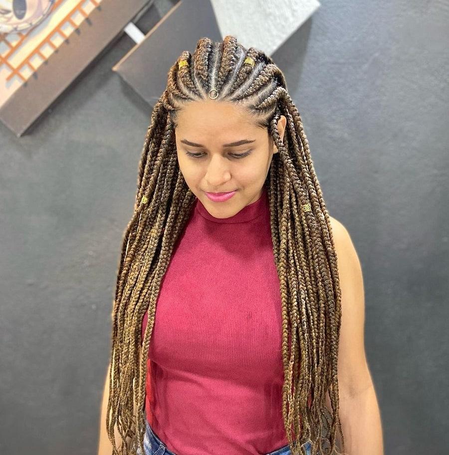 women with fulani braids