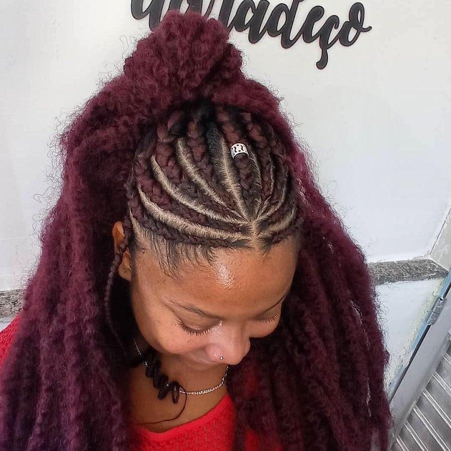 fulani braids for thick hair