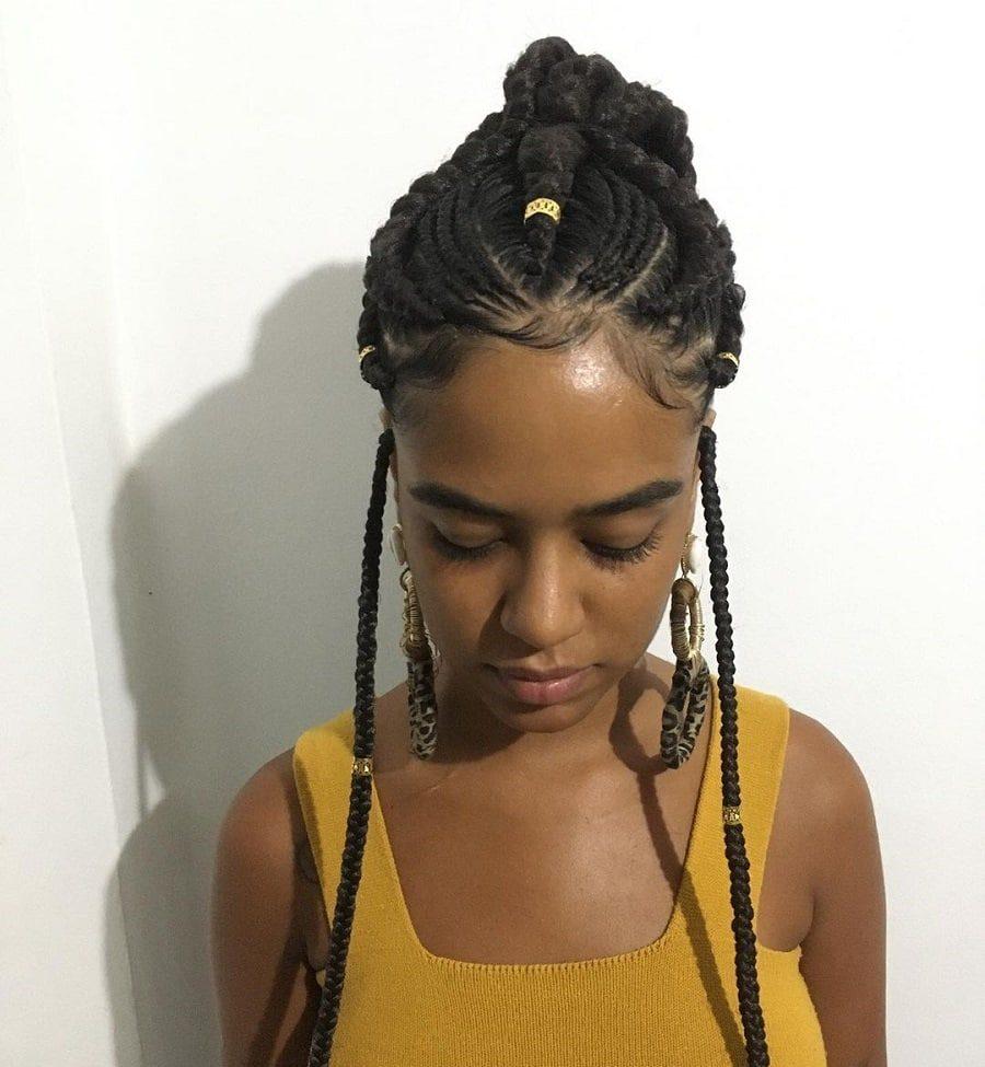 black girl with fulani braids
