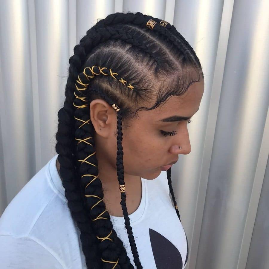 black girl with tribal braids