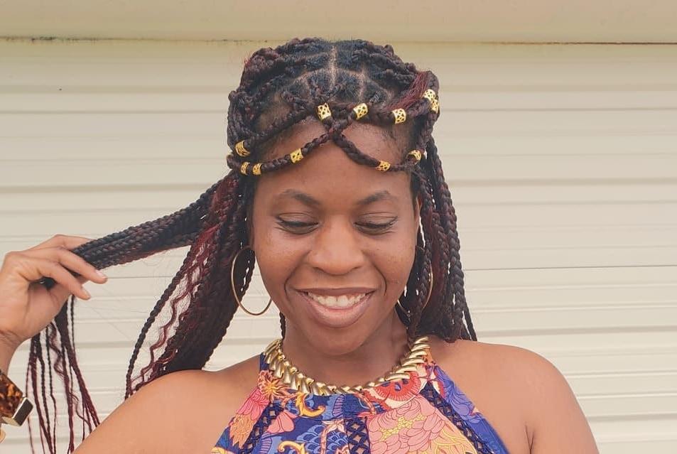 long tribal braid hairstyle