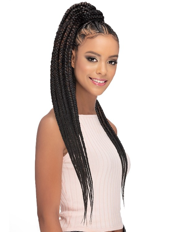 25 Hairstyles With Pre Stretched Braiding Hair Hairdo Hairstyle