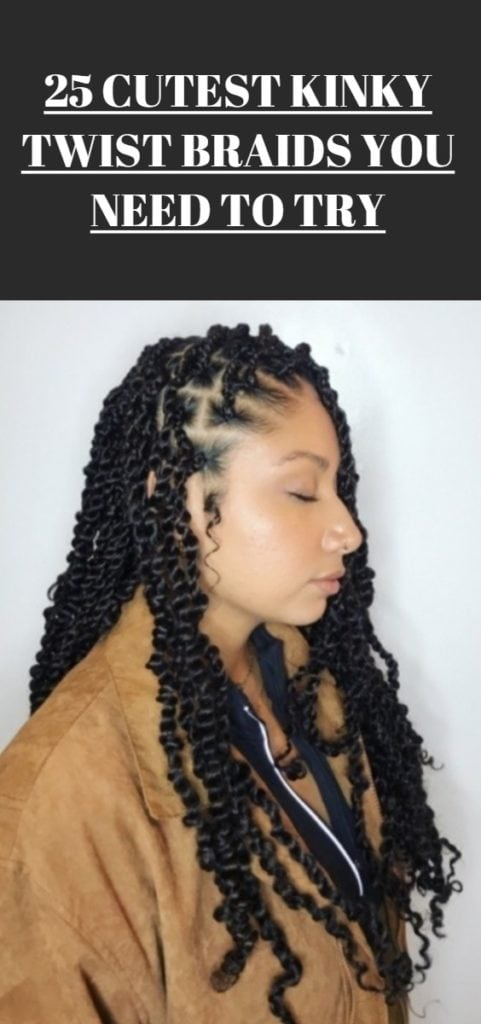 Kinky Twist Braids Hairstyles