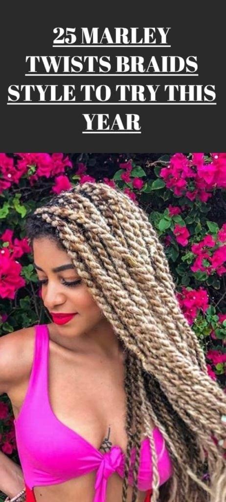 Marley Twists Braids Hairstyle