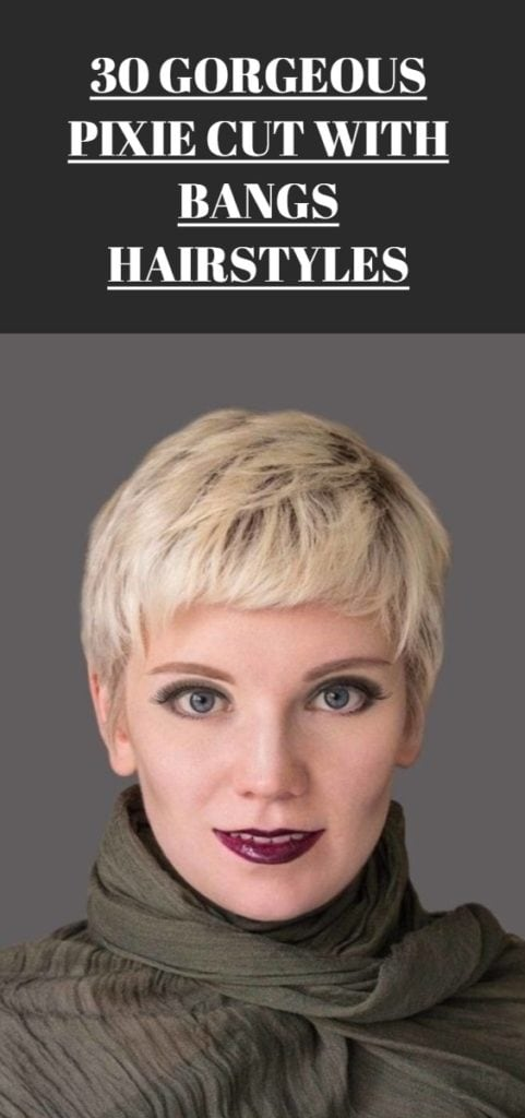 Pixie Cut with Bangs Hairstyles