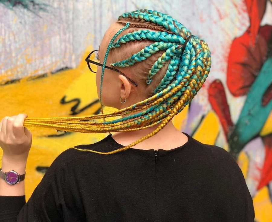 colorful jumbo braids