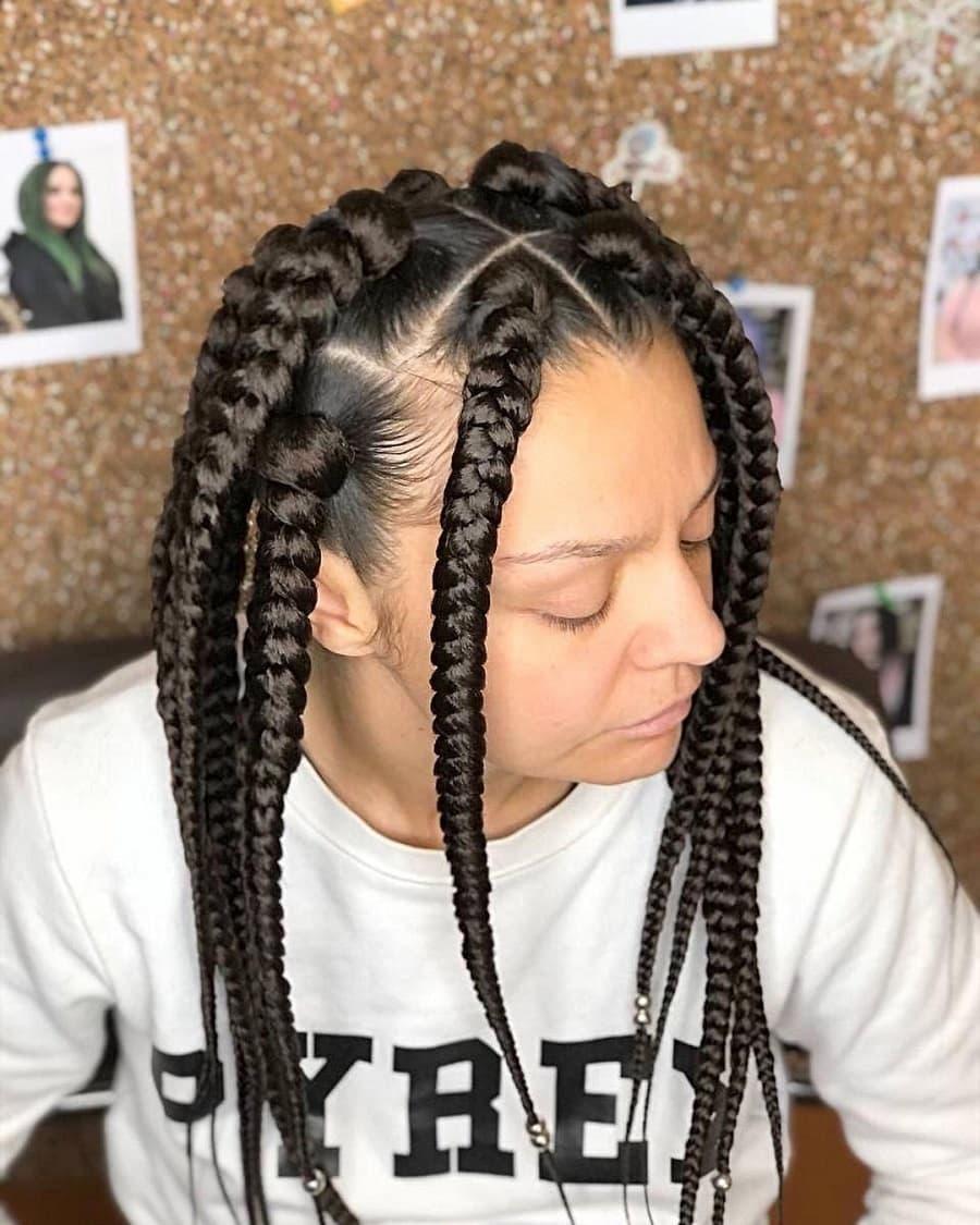 jumbo braid hairstyles for women