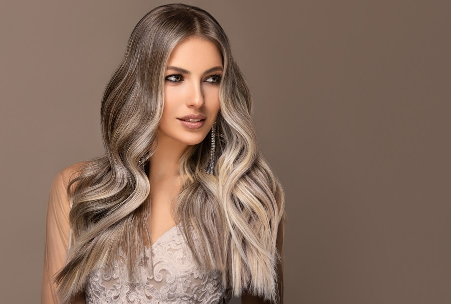 wedding hairstyle long ombre hair