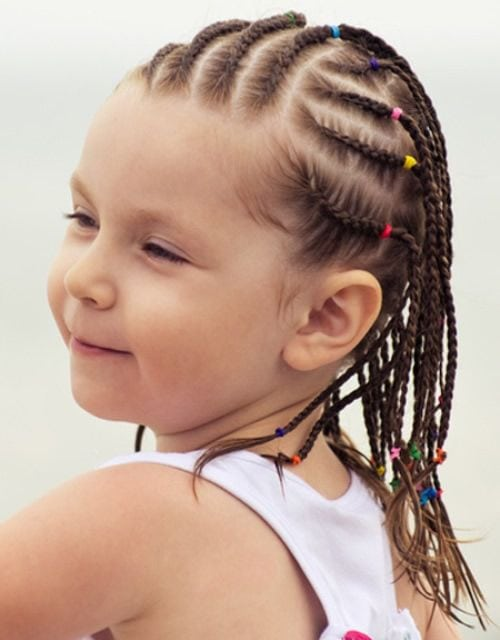 Hairstyles for Kids With Beads