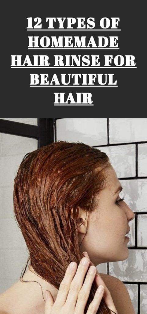 Types of Homemade Hair Rinse
