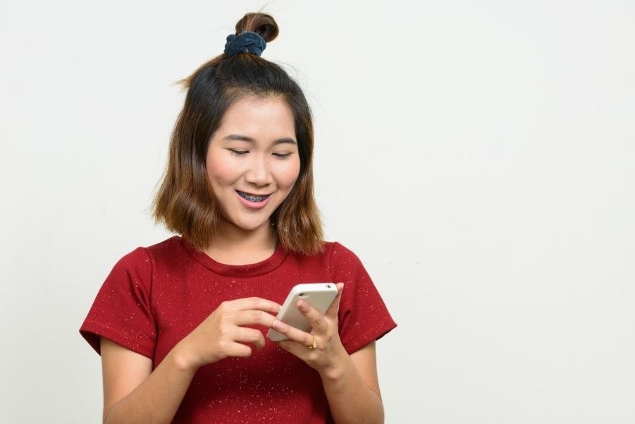 Asian medium hair with topknot