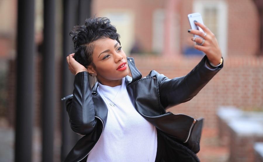 wavy pixie cut for black women