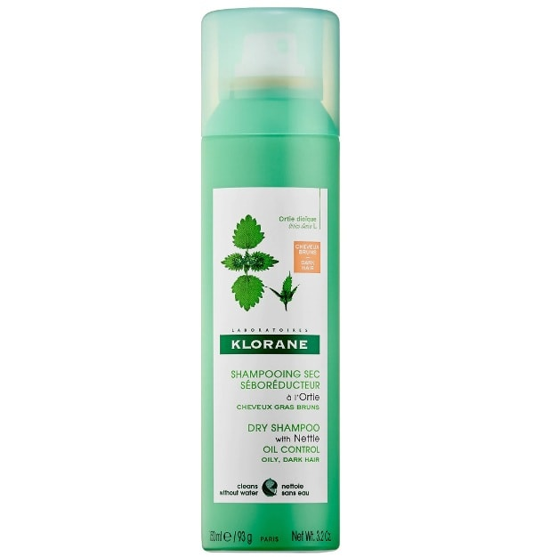 Klorane Dry Shampoo With Nettle Natural Tint For Oily And Dark Shades Of Hair