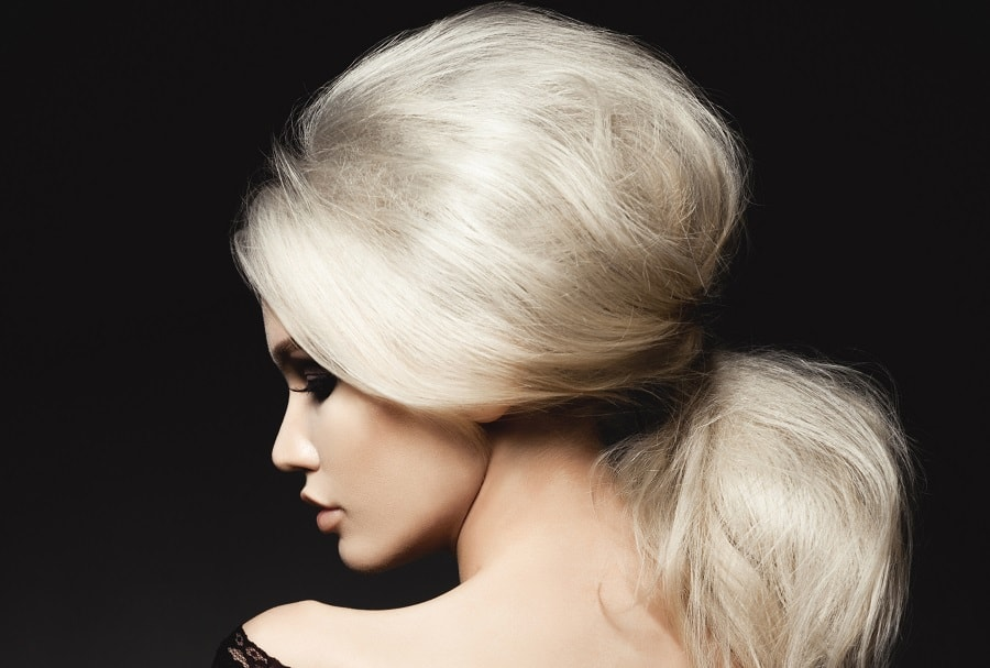 long puff ponytail for fine blonde hair