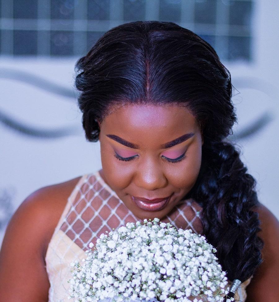 long wedding hairstyles for black women