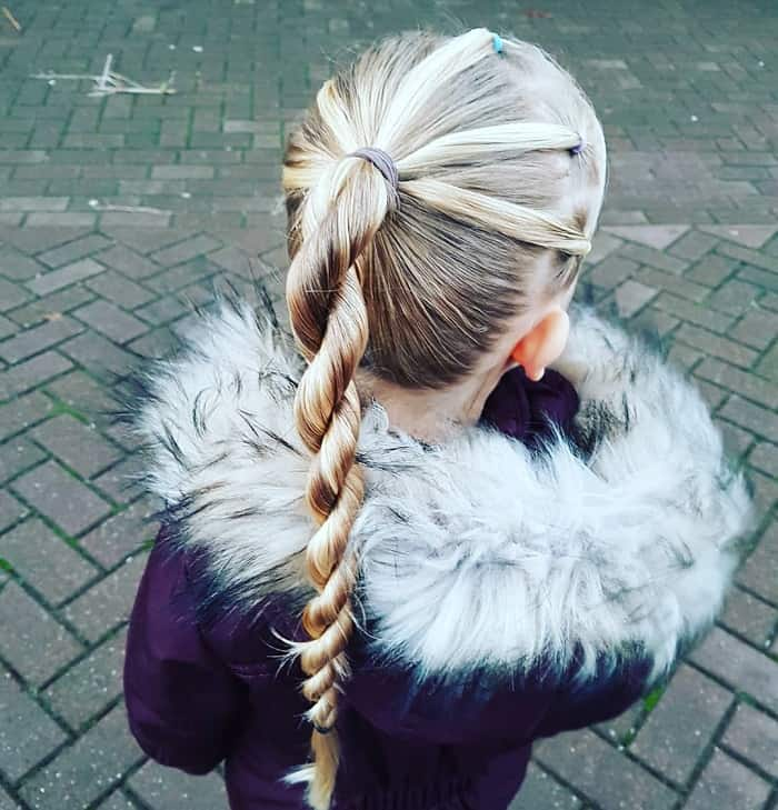 steps to do a rope twist braid