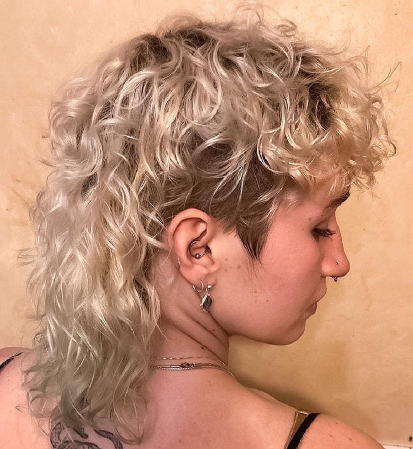 medium curly mullet