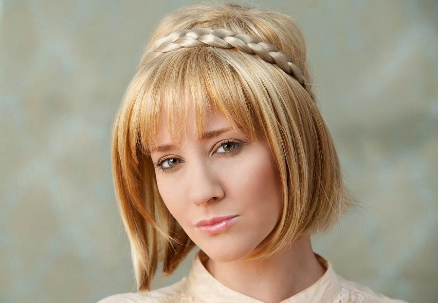 short hair braids with blonde bob