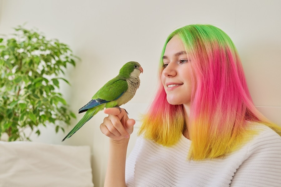 teen girl with medium colored hairstyle