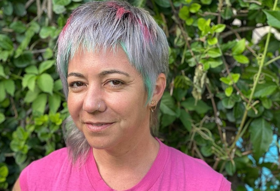 funky edgy hairstyle for women over 50