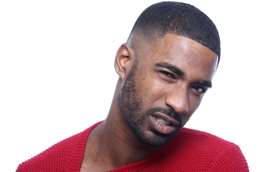 black guy with fade haircut