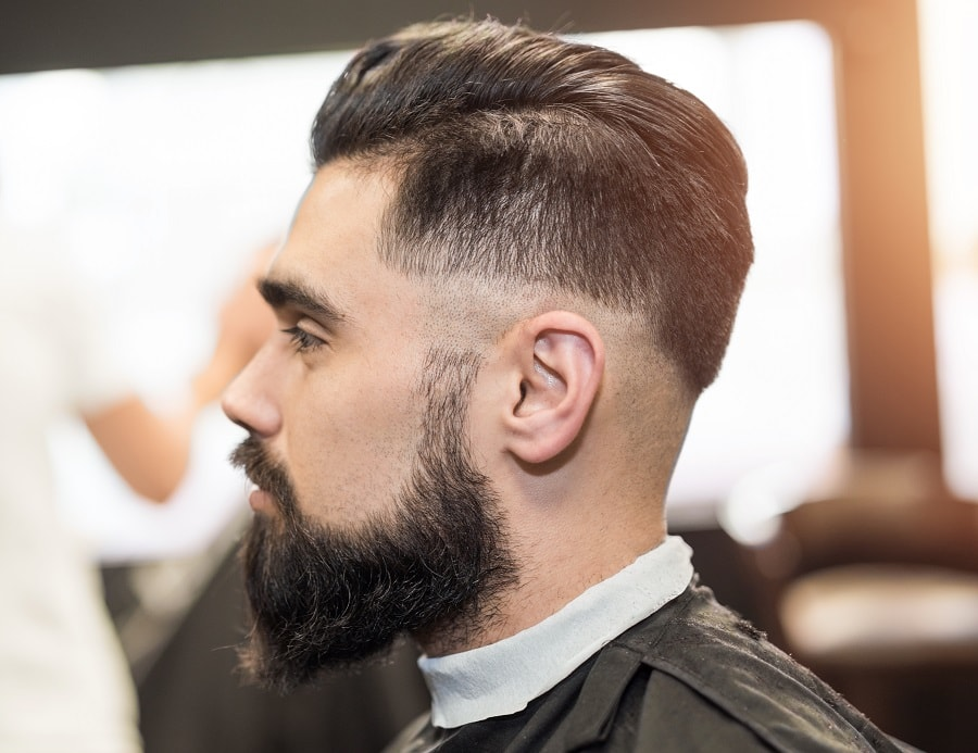 low fade for thick hair