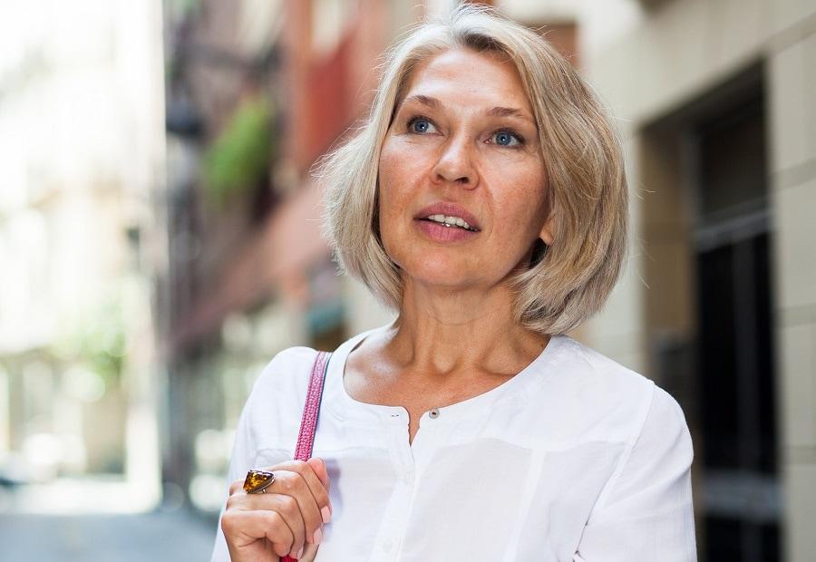 fine hair bob for women over 50